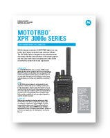 Motorola XPR3500e Data Sheet
